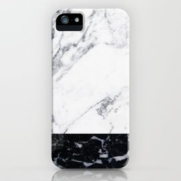 Marble Black & White iPhone Case