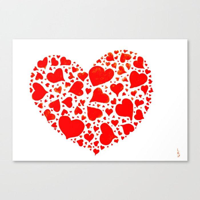 So many hearts Canvas Print
