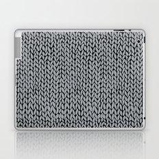Hand Knit Grey And Black Laptop & iPad Skin