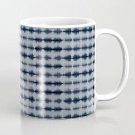 Shibori Frequency Horizontal Navy and Grey Coffee Mug