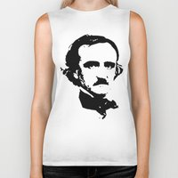 edgar allan poe Biker Tanks featuring edgar allan poe by b & c