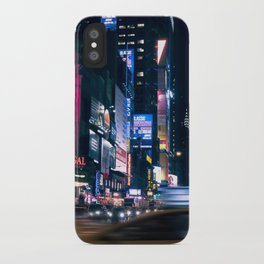 Neon Signs in New York, USA / Night City Series iPhone Case