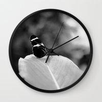 wings Wall Clocks featuring Wings by Karina O'Brien