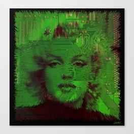 Marilyn Motherboard Digital Pop Art Movies TV ART Abstract by Robert R Splashy ART Canvas Print