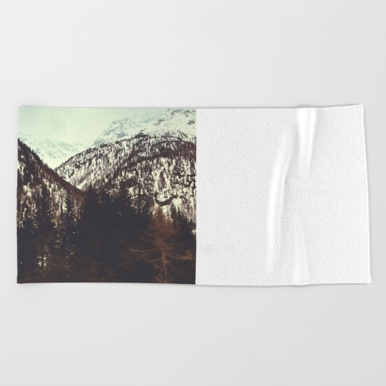 End of Winter in the mountains Beach Towel