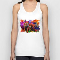 tigers Tank Tops featuring Psychedelic Tigers by JT Digital Art
