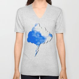 Blue Cloud Unisex V-Neck