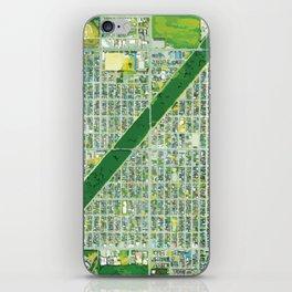 Aerial of Tree Row in Sapporo, Japan iPhone Skin