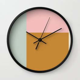 Abstract Geometric Color Block Design Wall Clock