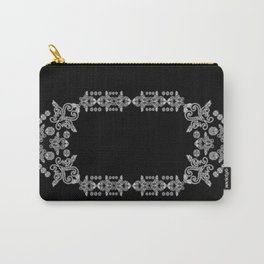'Love 02'- Heart of lace on a chain in black and white Carry-All Pouch