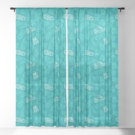 Sneakers // Turquoise Sheer Curtain