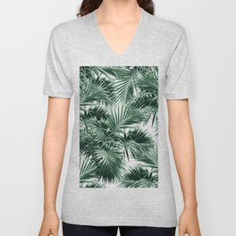 Tropical Palm Leaf Jungle #1 #tropical #decor #art #society6 Unisex V-Neck