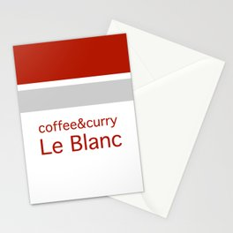 Le Blanc Coffee & Curry Stationery Cards