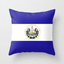 El Salvador flag emblem Throw Pillow