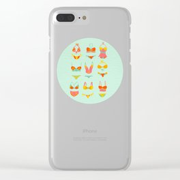 Bikini Collection on Mint Clear iPhone Case