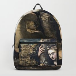 Titian - The temptation of Adam and Eve Backpack