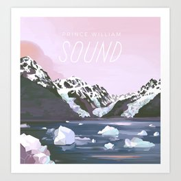 Prince William Sound Art Print