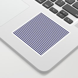 Navy Blue & White Maritime Small Stripes - Mix & Match with Simplicity of Life Sticker