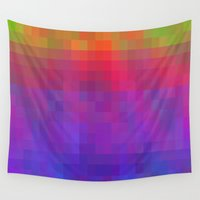 bands Wall Tapestries featuring Brilliant Color Bands by Betty Mackey