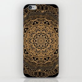 Mandala Project 260 | Gold Filigree iPhone Skin