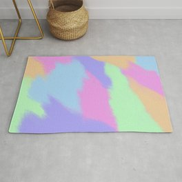 Watercolor pastel Rug