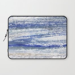 Gray Blue Marble blurred watercolor texture Laptop Sleeve
