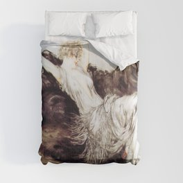 Louis Icart - Hunting - Laziness - Digital Remastered Edition Comforters