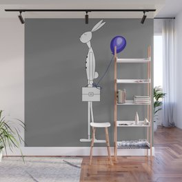 Bunny with balloon Wall Mural