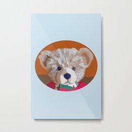 Teddy Portrait Metal Print