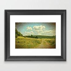 The Farm Road Framed Art Print
