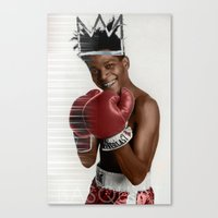 basquiat Canvas Prints featuring Basquiat * by zombielombii