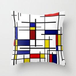 Mondrian Pattern Throw Pillow