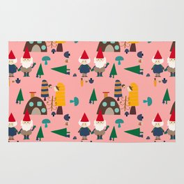 gnome pink Rug