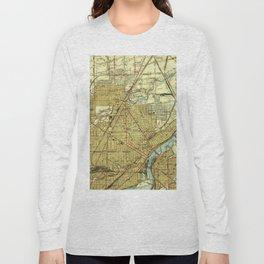 Vintage Map of Toledo Ohio (1938) Long Sleeve T-shirt