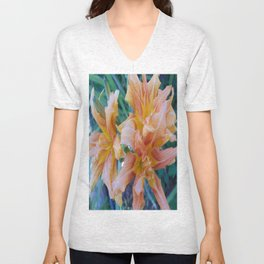 Tiger Lilly's in Spring II Unisex V-Neck