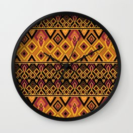 Yellow plaid. The creative pattern . Wall Clock