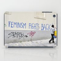 feminism iPad Cases featuring Feminism fights back by SpaceoperaImage