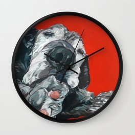 Leonard the Senior Dog Wall Clock