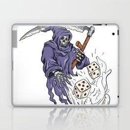 Grim Reaper Throwing the Dice Drawing Color Laptop & iPad Skin