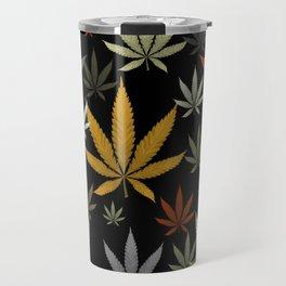 Marijuana Cannabis Weed Pot Leaves Travel Mug