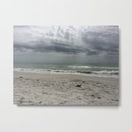 Lake Michigan storm Metal Print