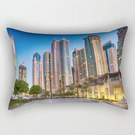 Lights, steel and glass Rectangular Pillow