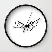 brooklyn Wall Clocks featuring Brooklyn by Blocks & Boroughs