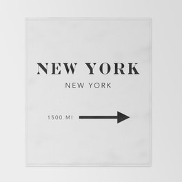 New York New York City Miles Arrow Throw Blanket