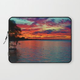 Sunset on Lake St. Clair in Belle River, Ontario, Canada Laptop Sleeve