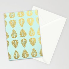 Gold Palms Deluxe Stationery Cards