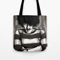 phil jones Tote Bags featuring Phil Lynott by Denis O'Sullivan