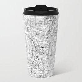 Vintage Map of San Antonio Texas (1953) BW Travel Mug