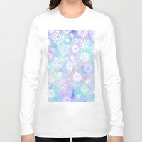 snowflake Long Sleeve T-shirts featuring Snowflake by Arushi Puri