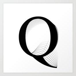 oboTypo _ Q Art Print